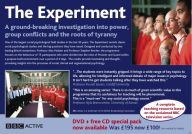 This flyer provides details of how to buy the BBC DVDs of 'The Experiment' at a reduced price